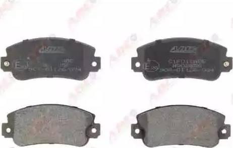ABE C1F011ABE - Brake Pad Set, disc brake detali.lv