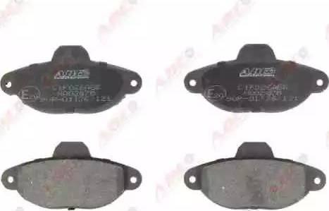 ABE C1F026ABE - Brake Pad Set, disc brake detali.lv