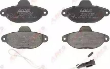 ABE C1F027ABE - Brake Pad Set, disc brake detali.lv