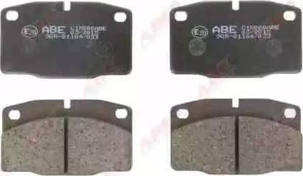 ABE C1X000ABE - Brake Pad Set, disc brake detali.lv