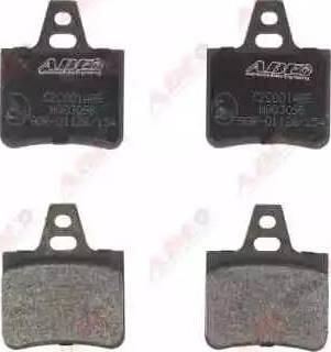 ABE C2C001ABE - Brake Pad Set, disc brake detali.lv