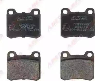 ABE C2M000ABE - Brake Pad Set, disc brake detali.lv