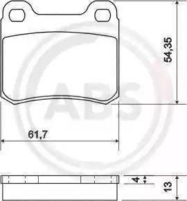 A.B.S. 36498 - Brake Pad Set, disc brake detali.lv