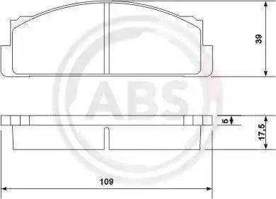 A.B.S. 36004 - Brake Pad Set, disc brake detali.lv