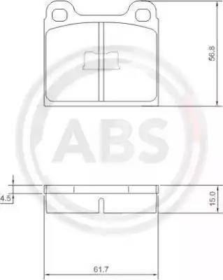 A.B.S. 36088 - Brake Pad Set, disc brake detali.lv