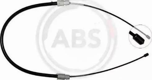 A.B.S. K19616 - Cable, parking brake detali.lv