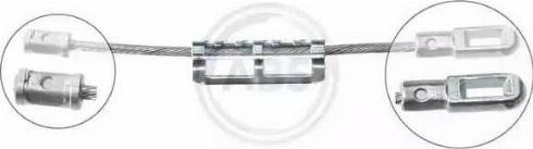 A.B.S. K12096 - Cable, parking brake detali.lv