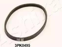 Ashika 1123PK495 - V-Ribbed Belts detali.lv