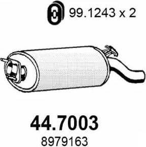 ASSO 44.7003 - End Silencer detali.lv