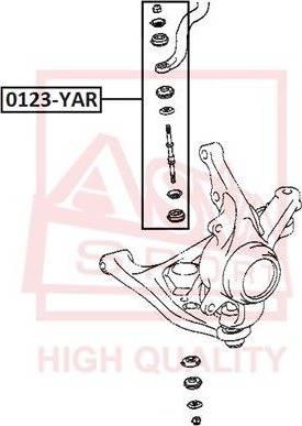 ASVA 0123YAR - Rod/Strut, stabiliser detali.lv