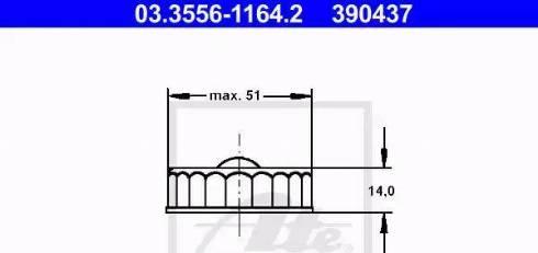 ATE 03355611642 - Sealing Cap, brake fluid reservoir detali.lv