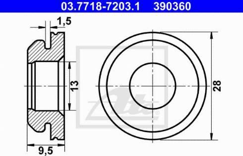 ATE 03771872031 - Seal, vacuum hose connector pipe detali.lv