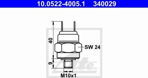ATE 10052240051 - Pressure Switch, brake hydraulics detali.lv