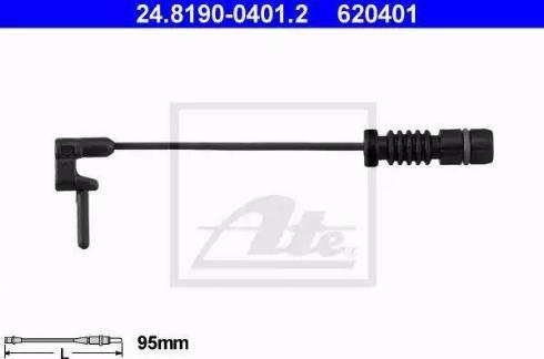 ATE 24819004012 - Warning Contact, brake pad wear detali.lv
