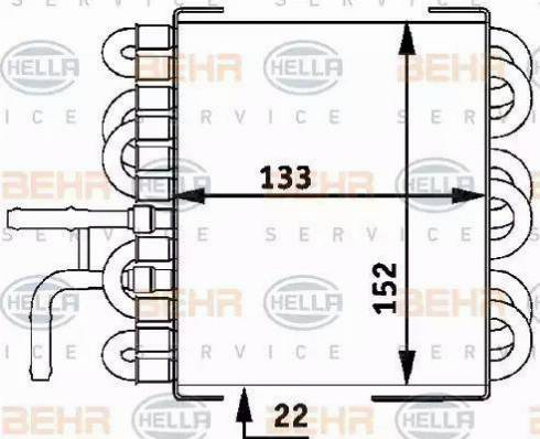 BEHR HELLA Service 8MK 376 717-411 - Fuel radiator detali.lv