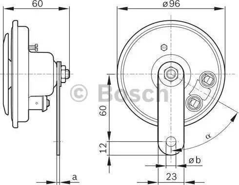 BOSCH 0986320146 - Air Horn detali.lv
