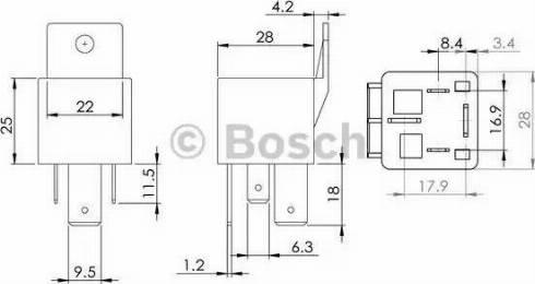 BOSCH 0986AH0080 - Control Unit, glow plug system detali.lv