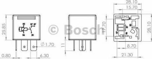 BOSCH 0986AH0204 - Multifunctional Relay detali.lv