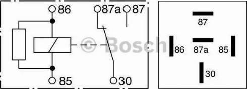 BOSCH 0332209206 - Relay, ABS detali.lv
