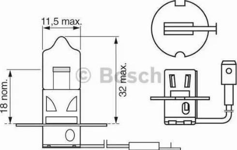 BOSCH 1987302031 - Bulb, fog light detali.lv