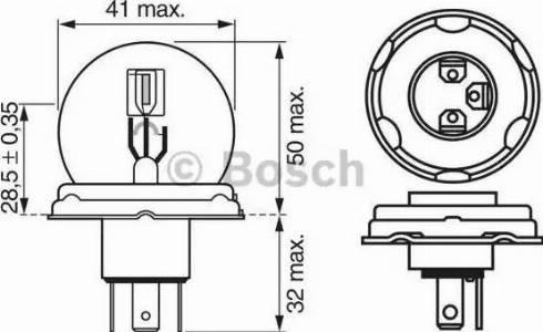 BOSCH 1987302023 - Bulb, fog light detali.lv