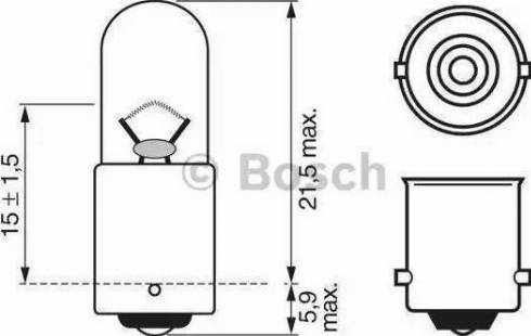 BOSCH 1987302207 - Bulb, park-/position light detali.lv