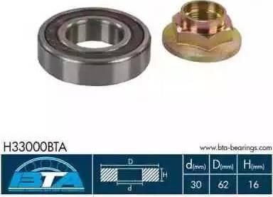 BTA H33000BTA - Intermediate Bearing, drive shaft detali.lv
