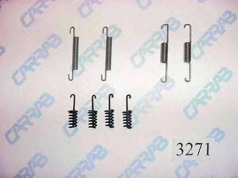 Carrab Brake Parts 3271 - Accessory Kit, parking brake shoes detali.lv
