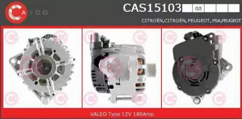 Casco CAS15103GS - Alternator, starter detali.lv