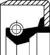 Corteco 01002914B - Shaft Seal, auxiliary drive detali.lv