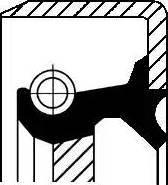 Corteco 19016639B - Shaft Seal, auxiliary drive detali.lv