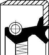 Corteco 12011443B - Shaft Seal, differential detali.lv