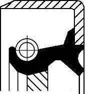 Corteco 12011436B - Shaft Seal, crankshaft detali.lv