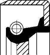Corteco 12011427B - Shaft Seal, manual transmission detali.lv