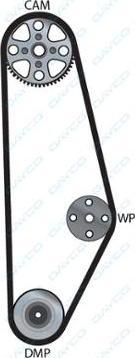 Dayco 94071 - Timing Belt detali.lv