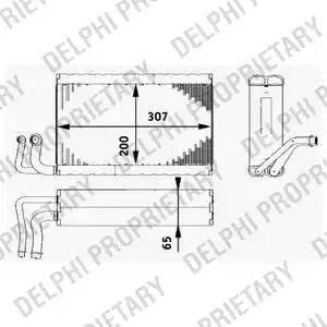Delphi TSP0525182 - Evaporator, air conditioning detali.lv