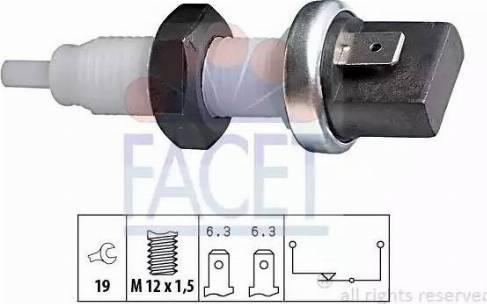 FACET 71000 - Brake Light Switch detali.lv