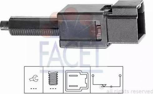FACET 71165 - Switch, clutch control (cruise control) detali.lv