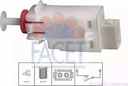 FACET 71123 - Switch, clutch control (cruise control) detali.lv