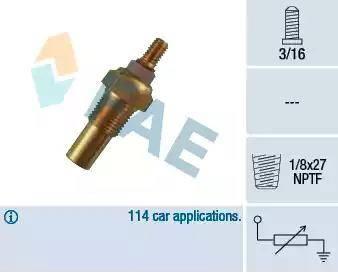 FAE 32190 - Sensor, coolant temperature detali.lv