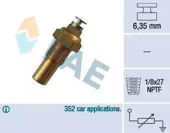 FAE 32230 - Sensor, coolant temperature detali.lv