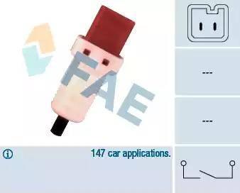 FAE 24896 - Switch, clutch control (cruise control) detali.lv