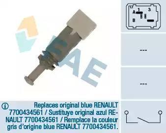 FAE 24891 - Switch, clutch control (cruise control) detali.lv