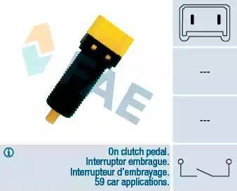 FAE 24860 - Switch, clutch control (cruise control) detali.lv