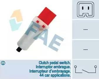 FAE 24884 - Switch, clutch control (cruise control) detali.lv