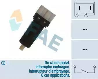 FAE 24870 - Switch, clutch control (cruise control) detali.lv