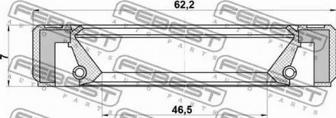 Febest 95GBY48620707R - Shaft Seal, differential detali.lv