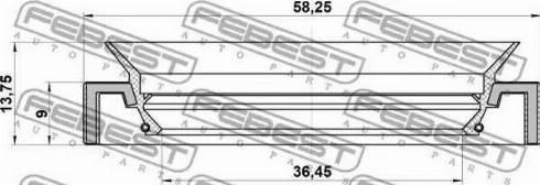 Febest 95HAY38580914C - Shaft Seal, differential detali.lv