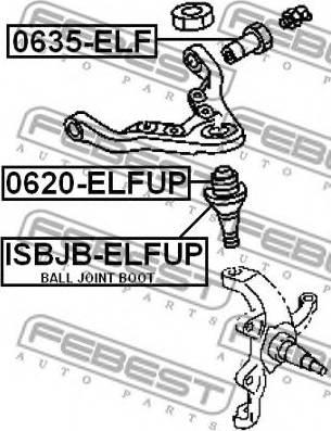 Febest 0635ELF - Support, control arm detali.lv