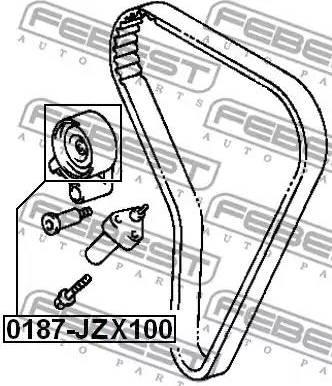 Febest 0187JZX100 - Tensioner Pulley, timing belt detali.lv